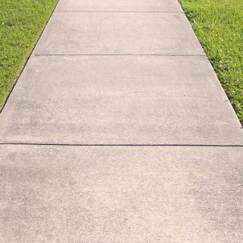 Sidewalks construction